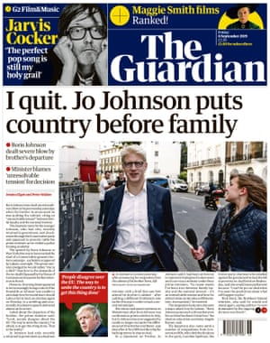 Guardian front page 6/9/19