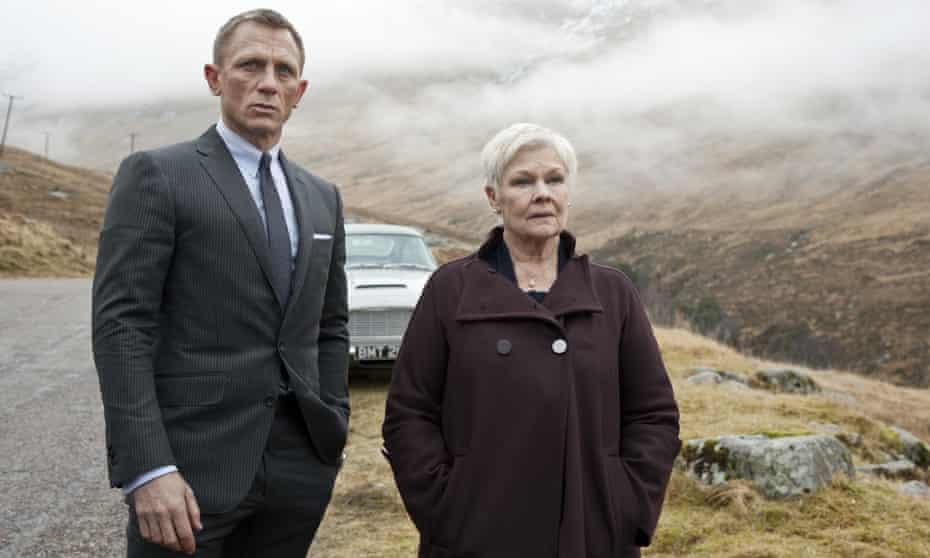 Daniel Craig with Judi Dench as M in Skyfall (2012)