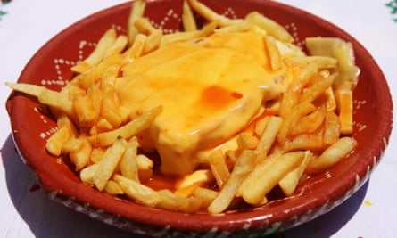 Healthy it's not … a francesinha sandwich served with chips.