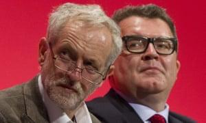 Jeremy Corbyn (left) and deputy leader Tom Watson