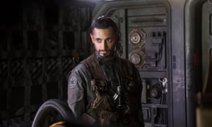 Riz Ahmed in Rogue One: A Star Wars Story.