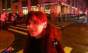 Soleil Philomena, who witnessed the explosion in the Chelsea area of Manhattan on Saturday 17 September 2016.