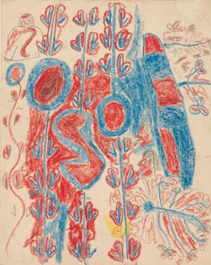 'Yulkaminyi' (Speckled Hare Wallaby Dreaming), by Abe Jangala, from The Warlpiri Drawings 1953-54, Meggitt Collection.