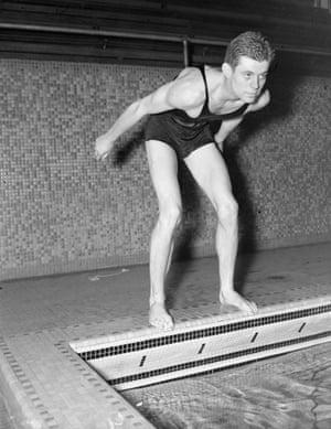 JFK on the swim team at Harvard in 1938