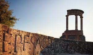 Via delle Tombe in Pompeii.