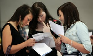 Three sixth-formers open their A-level results