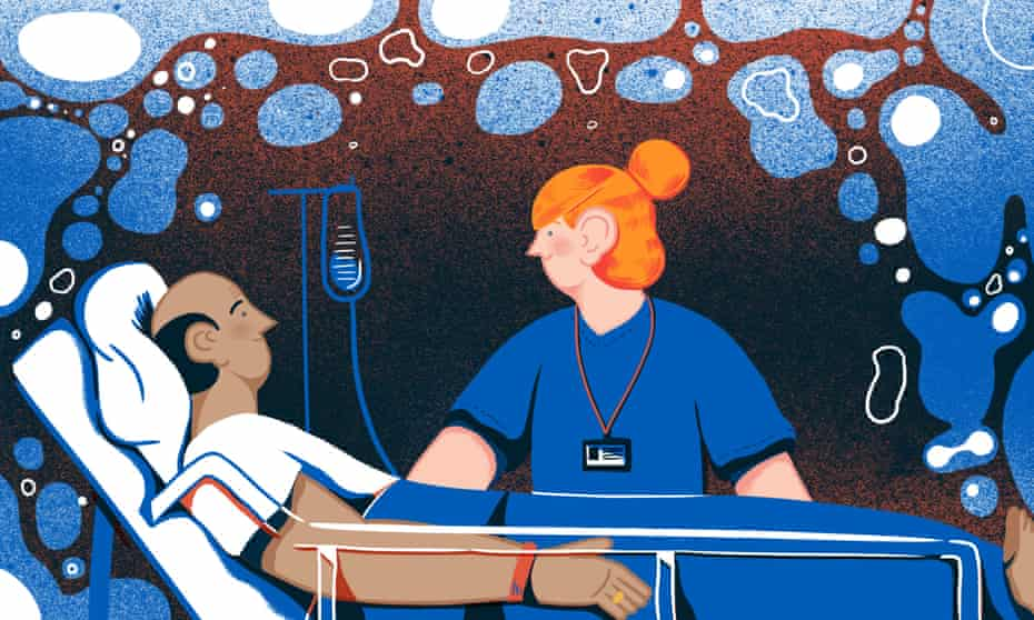 Illustration by Michael Driver for the secret life of an oncologist.
