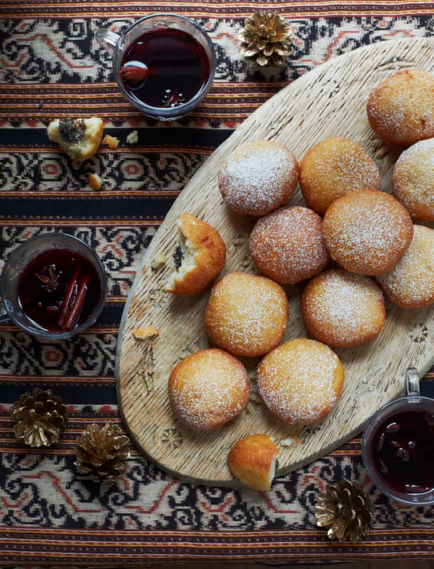 Olia Hercules' pampukhy with poppy seed and walnut paste: Christmas baubles, Ukrainian style.