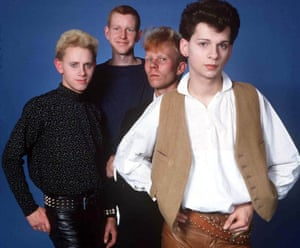 Depeche Mode in 1981, when Vince Clarke (third from left) was still in the band.