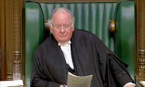Michael Martin in his role as Speaker of the House of Commons in 2009.