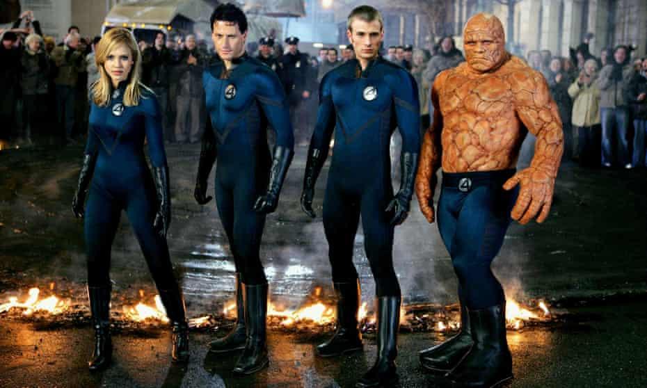 Jessica Alba, Gruffudd, Chris Evans and Michael Chiklis as the Fantastic Four.