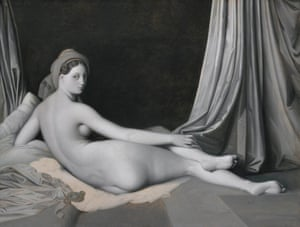 Jean-Auguste-Dominique Ingres and workshop, Odalisque in Grisaille, about 1824-34.