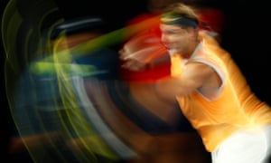 Rafael Nadal in action during his match against Matthew Ebden.