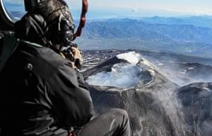 Volcanologists Monitor Mount Etna with special thermal cameras, the largest active volcano in Europe.