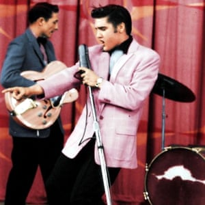 """""""We like to take credit for putting Elvis in the black-and-pink colour combination. Back then, 'real men' wouldn't wear pastel pink."""" So said Hal Lansky, whose family's clothing store Presley frequented in Memphis, Tennessee, from his teens onwards. The trend-bending bubble-gum suit that the rising star wore on the Milton Berle show in 1956 is a look echoed in recent years by nonconformist pop stars Harry Styles and Lorde."""