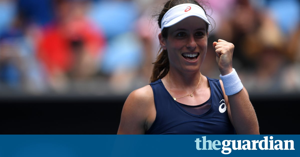 Johanna Konta sets up Australian Open quarter-final date with Serena Williams