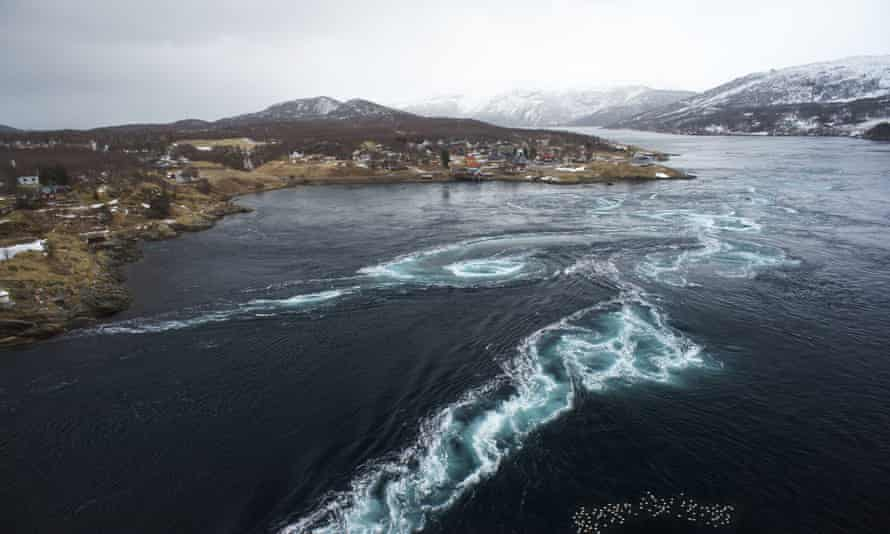 The Saltstraumen strait can experience tidal flows of up to 25mph.