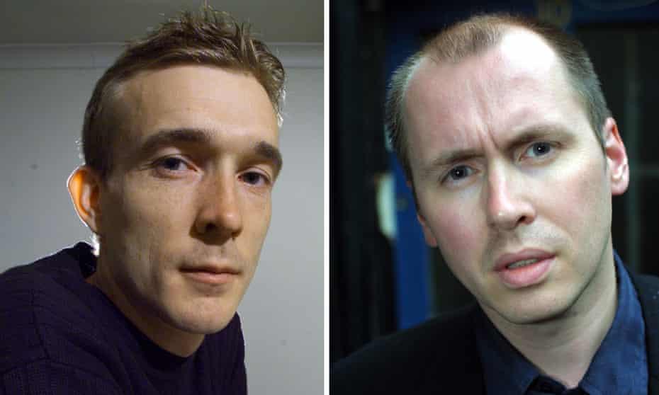 David Mitchell (taken 1999) and David Peace (2001)