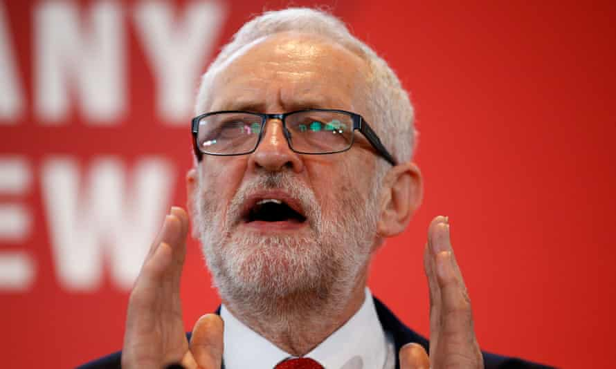 Jeremy Corbyn speaks at the launch of Labour's general election campaign last week.