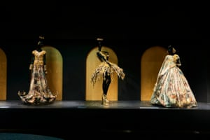 Installation view of Guo Pei's Legend collection, spring-summer 2017 on display at NGV Triennial at NGV International, 2017
