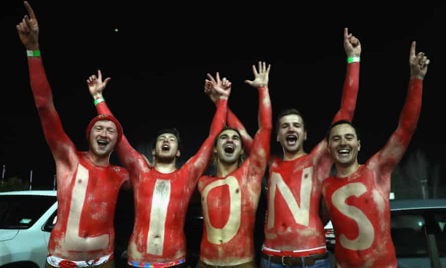 Lions fans on the tour of New Zealand in 2017