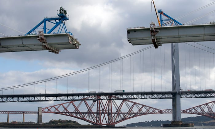 Queensferry Crossing across the Firth of Forth opens to