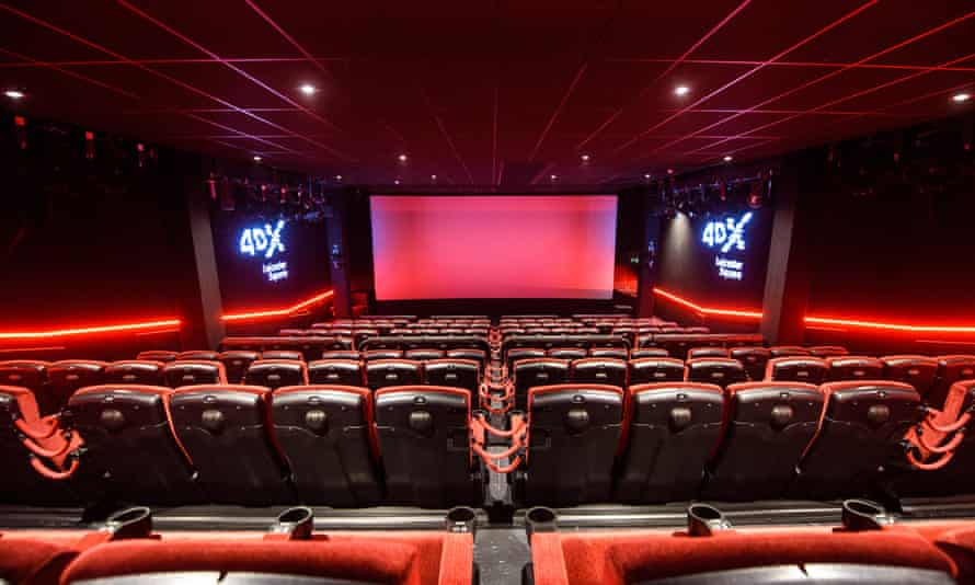 Inside the Cineworld 4DX auditorium.
