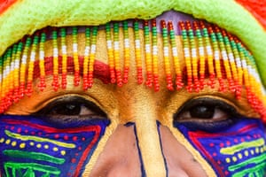 The eyes have it: colourful makeup is popular