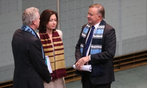 State VS State in the house today, Terri Butler form Queensland and Tony Burke and Anthony Albanese from NSW.