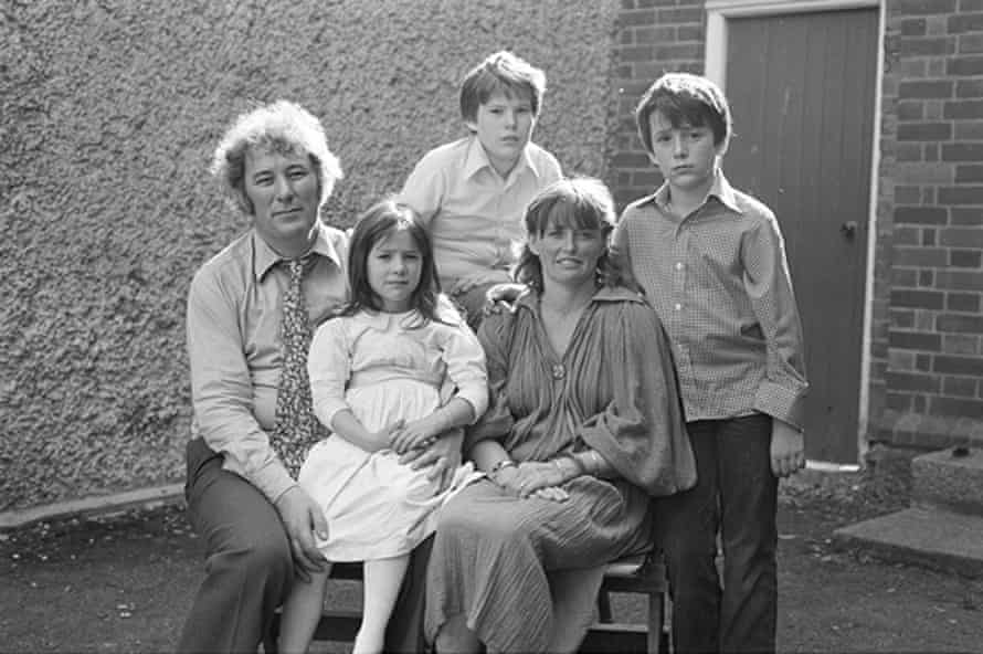 Seamus Heaney and family in the 1970s.