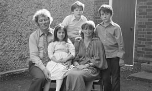 Seamus Heaney with his wife, Marie, and three children