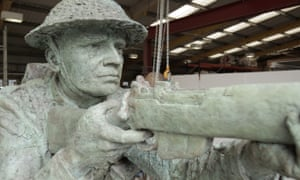 A detail from Williams-Ellis's D-day sculpture in the workshop.