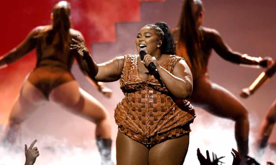 Lizzo in concert.