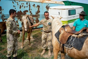 FPWC rangers saddle up at the Urtsadzor Eco Centre in Armenia.