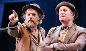 Hugo Weaving (Vladimir) and Richard Roxburgh (Estragon) in Waiting For Godot.