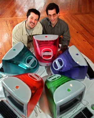 Jony Ive, left, had his first truly iconic hit with the iMac in 1998. With him is Jon Rubinstein, Apple's then vice-president of design.