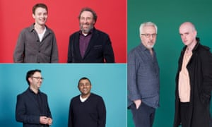 Two generations, three professions, clockwise from top left: actors Matthew Tennyson and Antony Sher; novelist Alan Hollinghurst and poet Andrew McMillan; politicians Nigel Fletcher and Lord Waheed Alli