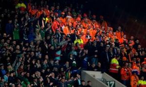 Dutch fans in the crowd.