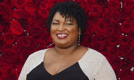Stacey Abrams poses at the grand opening of Tyler Perry Studios in Atlanta, last October.
