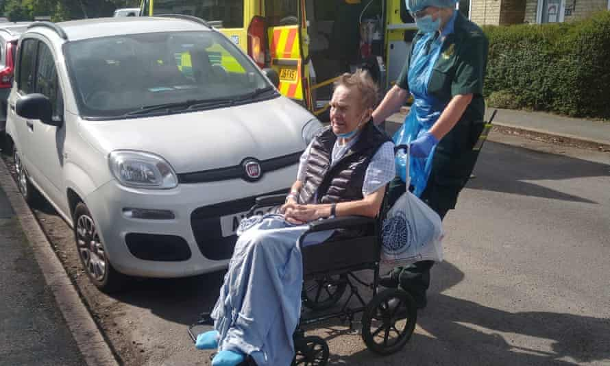 John Heywood, whose family fear he contracted Covid-19 after being discharged into a care home with an outbreak