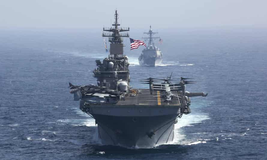 The amphibious assault ship USS Kearsarge in the Arabian Sea in May.