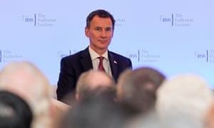 Jeremy Hunt at a lecture during his trip to Singapore