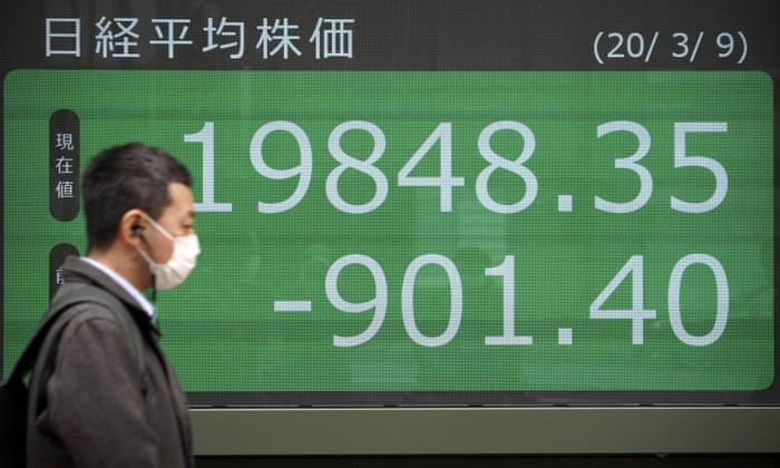 Panic hits global markets amid threat of coronavirus and oil price ...