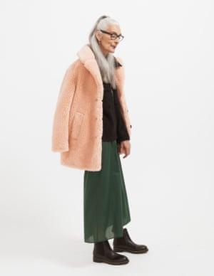 model wears coat, £79, warehouse.com. Top, £99, arket.com. Dress, £79, cosstores.com. Boots, £169, kurtgeiger.com.