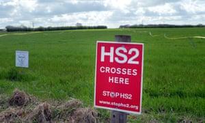 HS2 signpost
