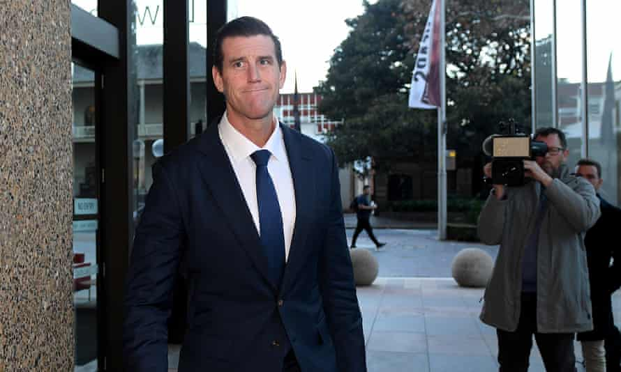 Ben Roberts-Smith leaves the federal court in Sydney, Australia