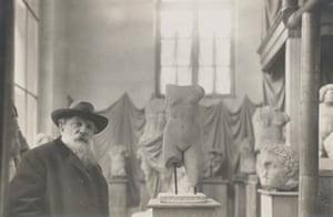 Auguste Rodin in his Museum of Antiquities at Meudon on the outskirts of Paris, c1910.