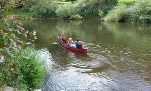 Canoe the Wye Family half day
