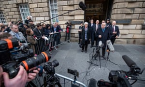 Alex Salmond at the High Court in Edinburgh