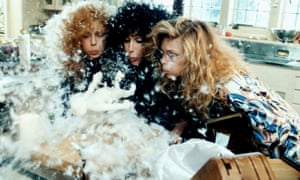 Susan Sarandon, Cher, and Michelle Pfeiffer in The Witches of Eastwick (1987) … Updike's 'one attempt to make things right'.
